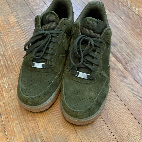 Nike Air Force One Olive Green Suede
